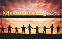 New Member Class:  December 1st